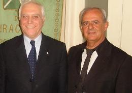 Il Presidente Nicola Bono con l'Assessore Vincenzo Morale.