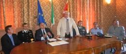 Il Presidente Nicola Bono nel corso della presentazione di Tolleranza Zero.