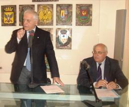 Il Presidente Nicola Bono </br>con l'ing. Domenico Morello.