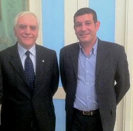 Il Presidente Nicola Bono</br> con l'assessore alla viabilità <br/>Gianni Briante.