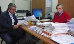 L'ing. Angelo Di Pace </br> e il dott. Mario Antonuzzo.